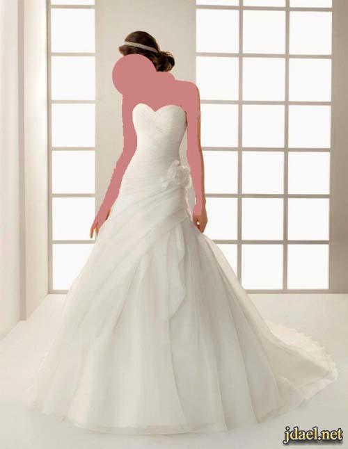 فساتين اعراس وصدور مشغوله ترتر وخرز للعرايس الانيقه