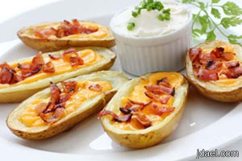 مقبلات رمضانيه من البطاطس المحشيه بصدور الدجاج والجبن