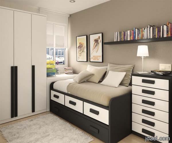 ديكورات غرف نوم عصريه للغرف الصغيرة للبنات والشباب   منتدى جدايل
