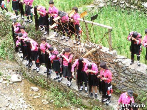 صور بنات باطول شعر قرية هيانجلو بالصين صور بنات بشعر