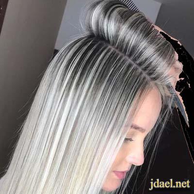 صبغات الشعر بدرجات اللون الرمادي باحدث الطرق العصرية