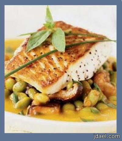 سمك مشوي بالفرن للحميه والرجيم والطعم روعه