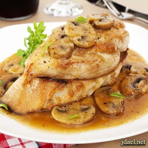 طبخ صحي وسهل وجبة دجاج بالحامض والفطر
