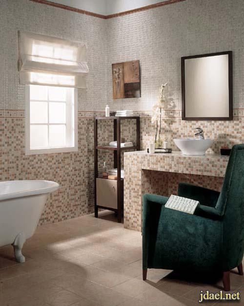 سيراميك اسباني ارضيات وجدران حمامات عصرية انيقة
