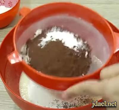 كيكة الست ملاعق كيكة طبقات بطعم الكريمة والكراميل