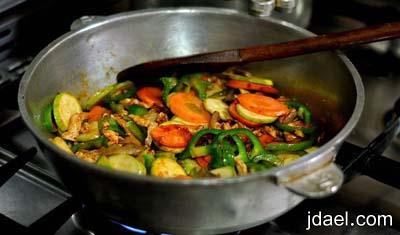 طريقة عمل باستا بالجبن والخضار تحضير مكرونه سريعه بالخضروات