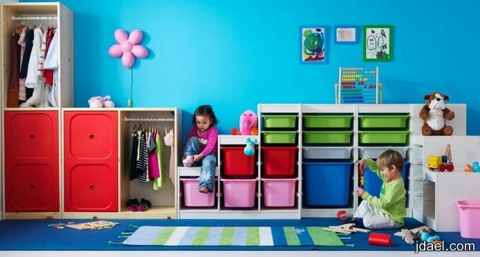 غرف نوم للاطفال بترتيبات تجمع يحتاج الطفل