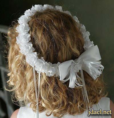 اطواق شعر ورد طبيعي وصناعي وارق اكسسوار للبنوتات الاطفال