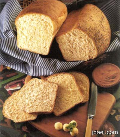 طريقة عجينة خبز التوست الاسمر البيت