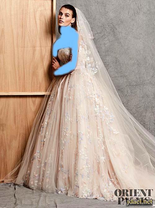 فساتين اعراس للعرايس باللون البيج موديلات تعشقها البنات