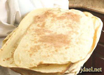 خبز الافاش تركي الخبز المسطح المرقوق المطبخ التركي