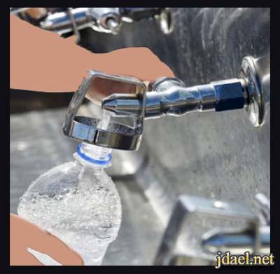 عدم اعادة استخدام وتعئبة قوارير الماء البلاستيك عدة مرات