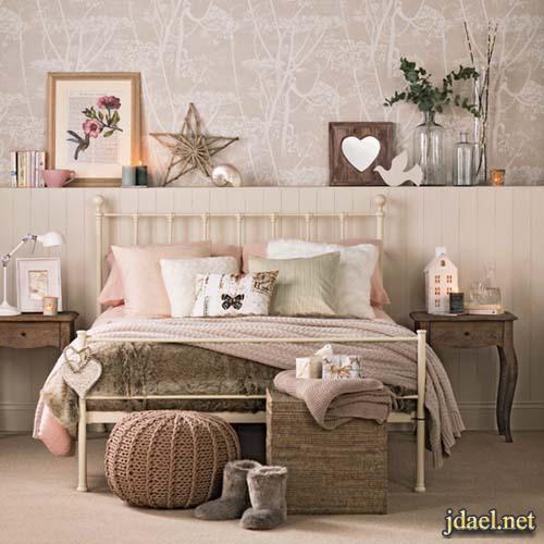 غرف نوم عصرية ديكور غرف النوم بورق جدران منقوشة روعة