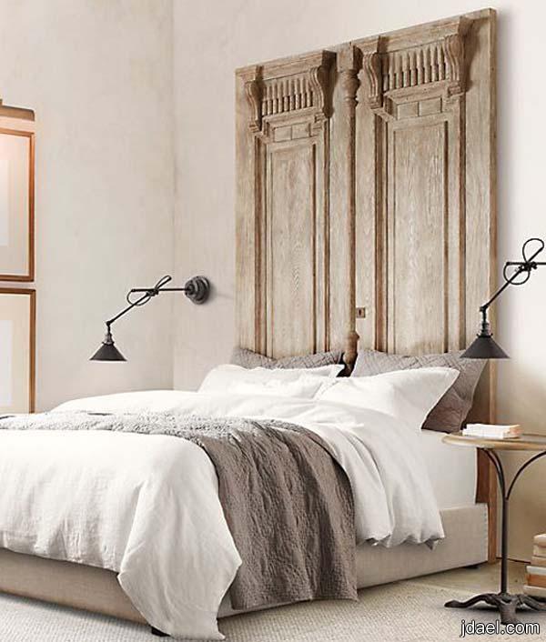 ديكورات خلفيات السرير بالتصميم الريفي والكلاسيك