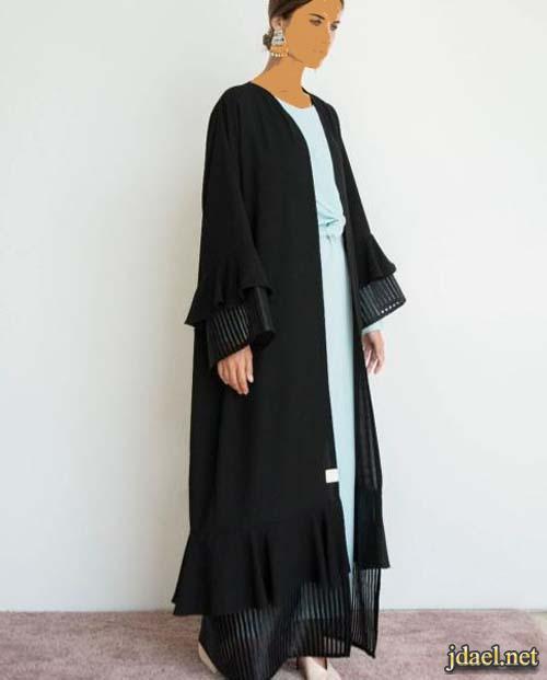 عبايات عربية باللون الاسود وتطريز انيق بافكار تواكب الموضة