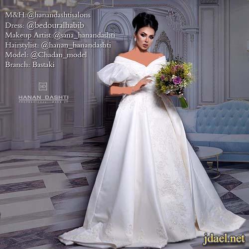 فساتين زفاف للعروس مكياج عرايس تسريحات شعر للعروسة