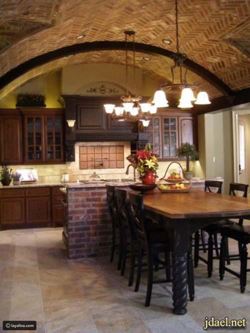 ديكور مطابخ عصرية بتصاميم عصرية للبيوت الفخمة