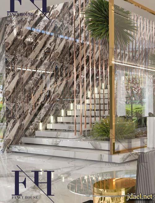 تصاميم سلالم منازل فخمة ابداع تصميم درابزين منوع للدرج