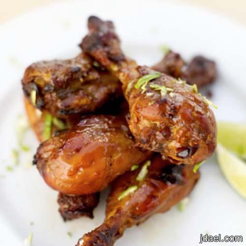 افخاذ دجاج باللبن والصويا الصوص بالفرن