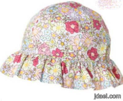 قبعات ملونه للبنوتات لاناقة الصيف