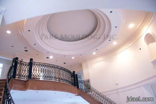 ديكورات الاسقف والجدار بتصاميم الجبس