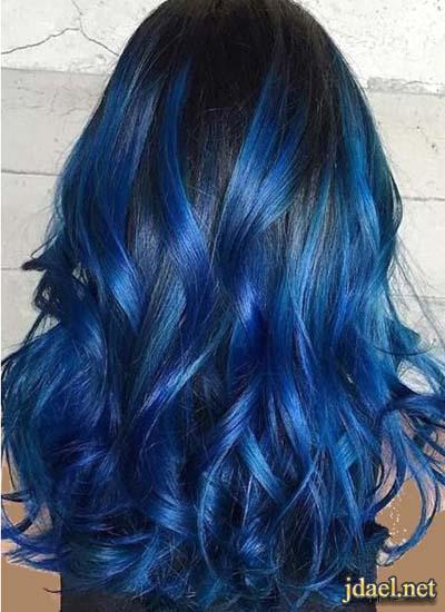 الوان صبغات شعر جريئة للبنات صبغات الشعر بتدريج اللون الازرق