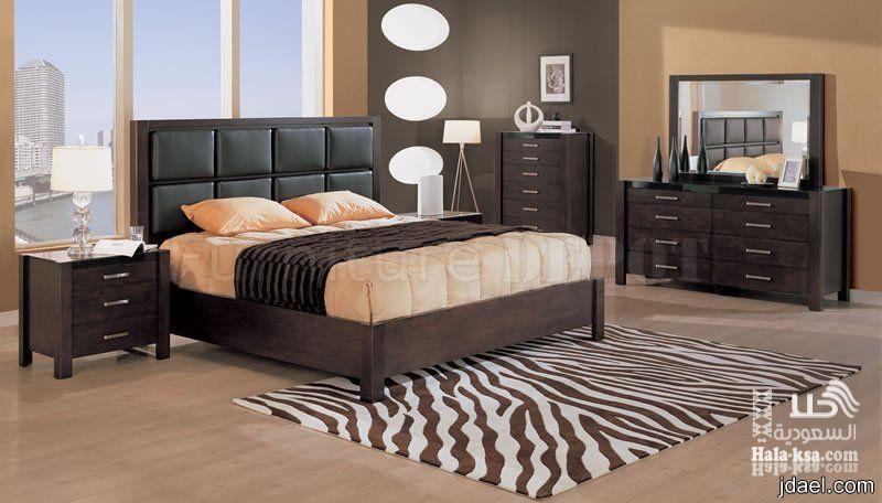 غرف نوم بديكورات الجلد والكلاسيك وجديد موديل المودرن   منتدى جدايل