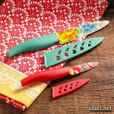 اواني منزلية صيني طبعات ورد اكواب صحون سكاكين سيراميك