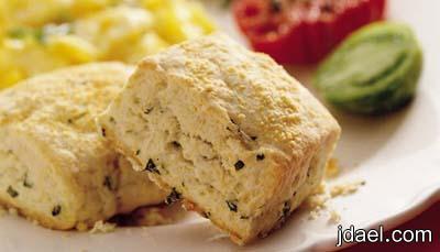 تحضير البسكوت المالح بالجبن والكريمه البيضاء