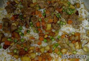 طبخ البرياني باللحم والخضار المطبخ العراقي