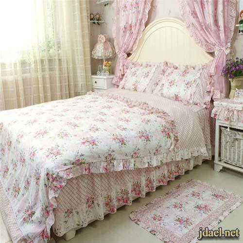 صور اكسسوار غرف النوم الشراشف والملايات والمفارش