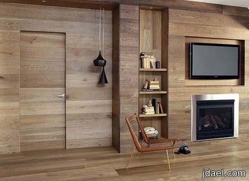 ديكورات بالخشب للجدار 2014 تصاميم للحائط بالاخشاب