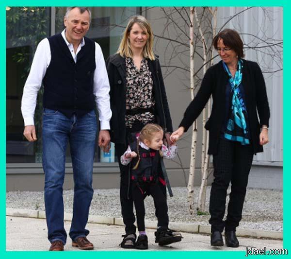 حنان وحب الام يدفعها لاختراع اداة تعيد ممارسة المشي لاطفال