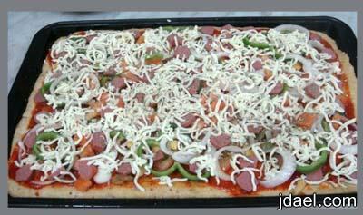 طريقة عمل بيتزا بدقيق البر وبسعرات حراريه اقل
