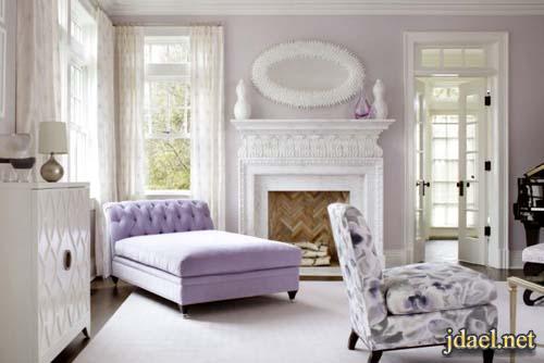 ديكور غرف الجلوس باللون الزهري ومجموعة من الوان الباستيل