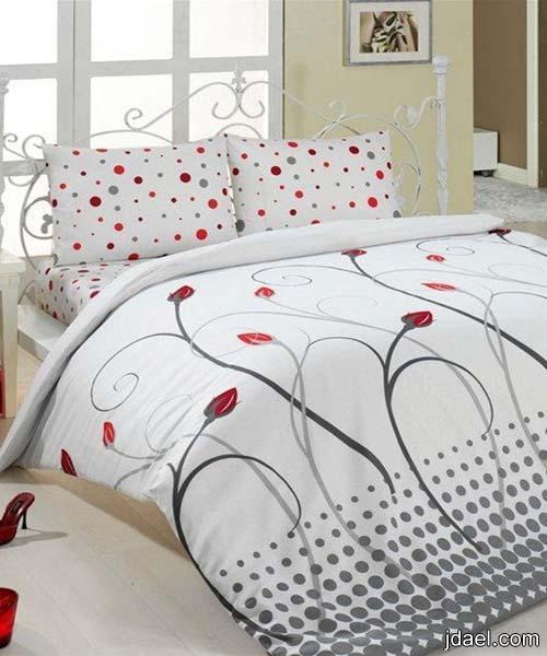 اطقم عمليه للسرير باجمل الالوان مفارش للأسره طقم كامل لسريرك