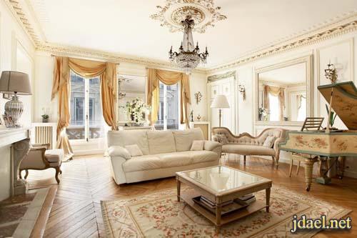ديكور فرنسي ديكورات شقق بالطراز القديم والحديث باريس