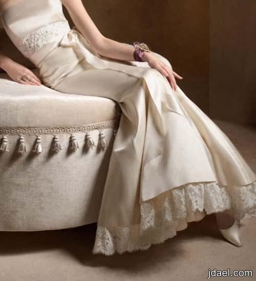 فساتين زفاف للعروسه بالدانتيل وباجمل الموديلات الراقيه 2013
