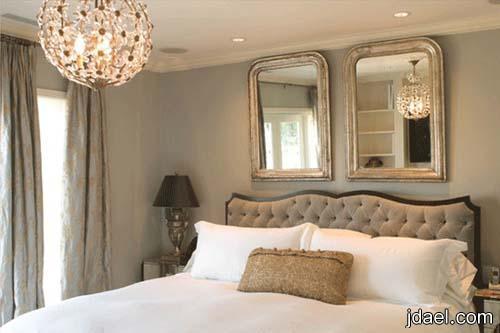 ديكورات غرف نوم راقية التصميم بالذوق المودرن والكلاسيك على الجدار