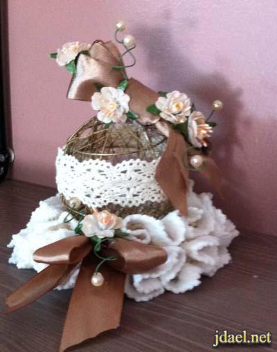توزيعات اعراس ومناسبات شغل يدوي بالدانتيل والصدف واللؤلؤ