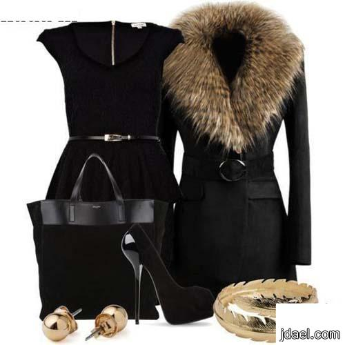 ملابس شتويه بموديلات الجاكتات واحلى فساتين لاناقة الشتاء