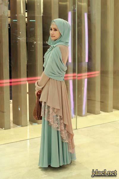 فساتين وبلايز الحجاب للمحجبات بلايز شيفون طويله بقصات اماميه شيك