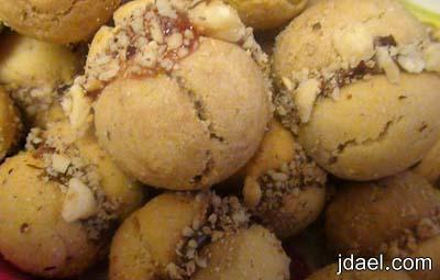 لانكشير محشي باللوز والشوكولاطه والمربى بيتفور لمناسبة العيد سريع التحضير