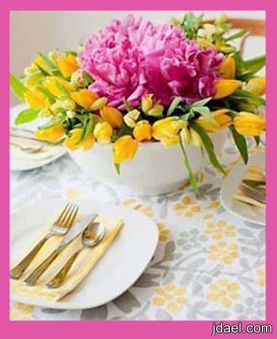 تنسيق الورد والزهور الطبيعيه في البيت بيدك باسهل واجمل فكره بالصور