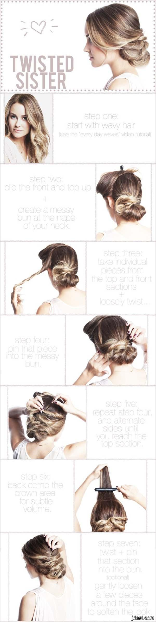 صور تسريحات شعر فرنسيه سهله بالصور بقمة الجمال للبنات