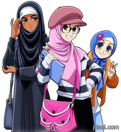 صور بنات انمي محجبات اجمل لفات حجاب بنوتات انمي