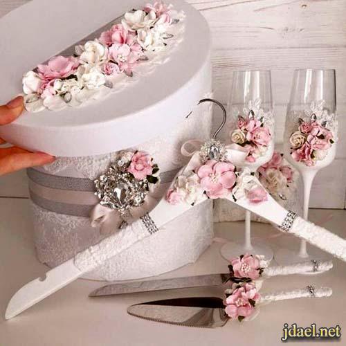 مهارات يدوية بافكار روعة تزيين كاسات عصير العروسة بالورد
