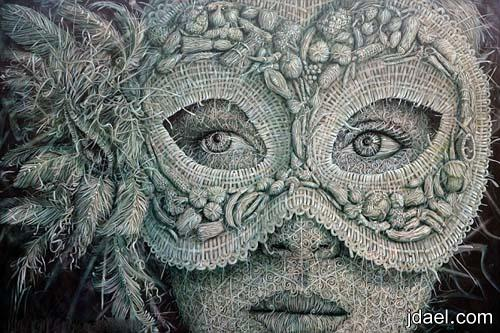 لوحات فنيه غريبه للفنان اليكس توريس اغرب اللوحات المرسومه