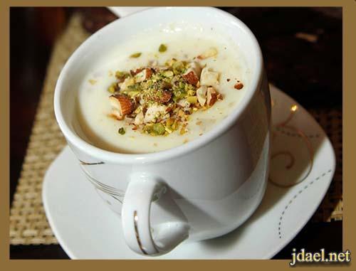 القهوة الحجازية باللوز والهيل باسهل طريقة سعودية