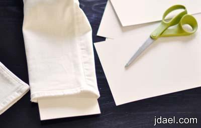 طريقة الرسم بالدانتيل على البنطلون الجينز بالصور